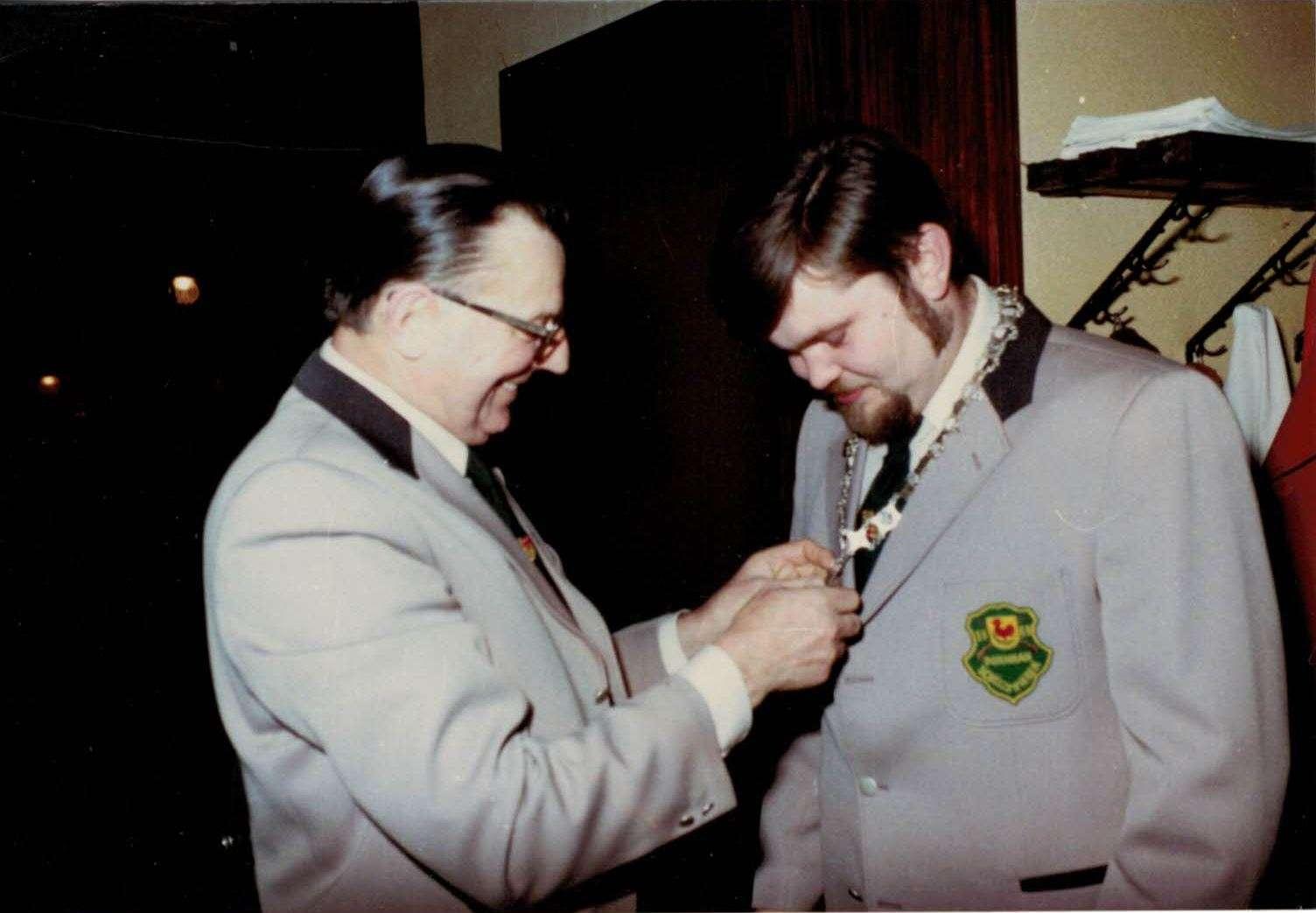 Krönung des Schützenkönigs 1979