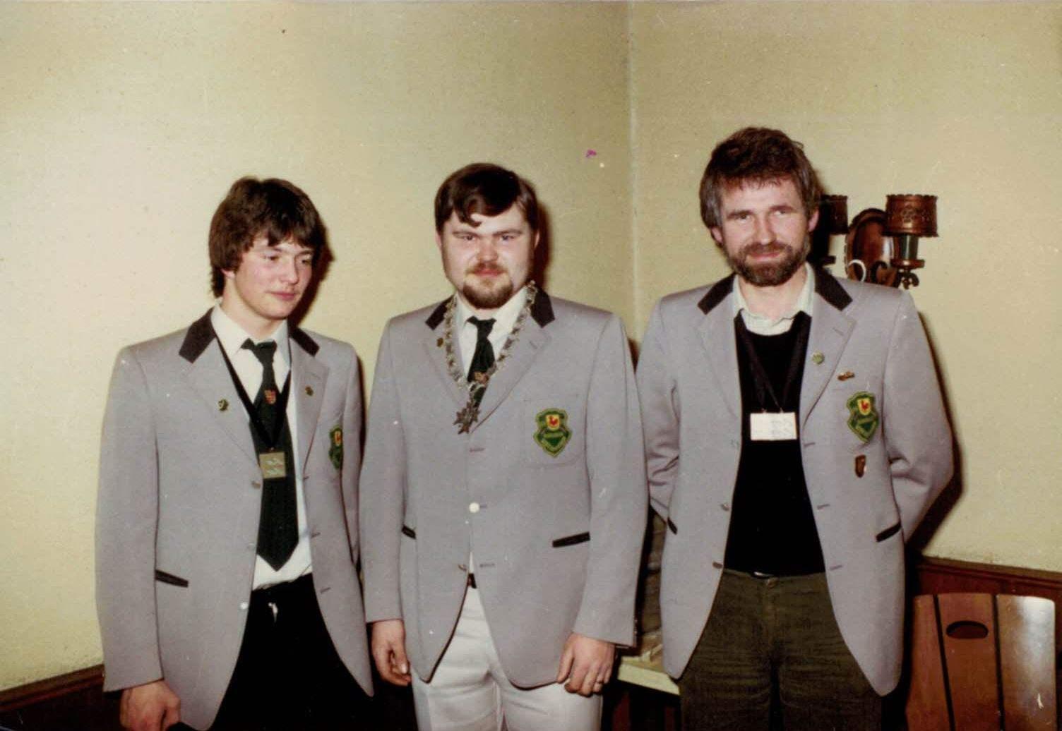 Schützenkönig mit Ritter 1979