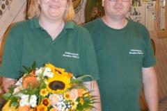 Schriftführerin Martina mit Schützenmeister Andreas