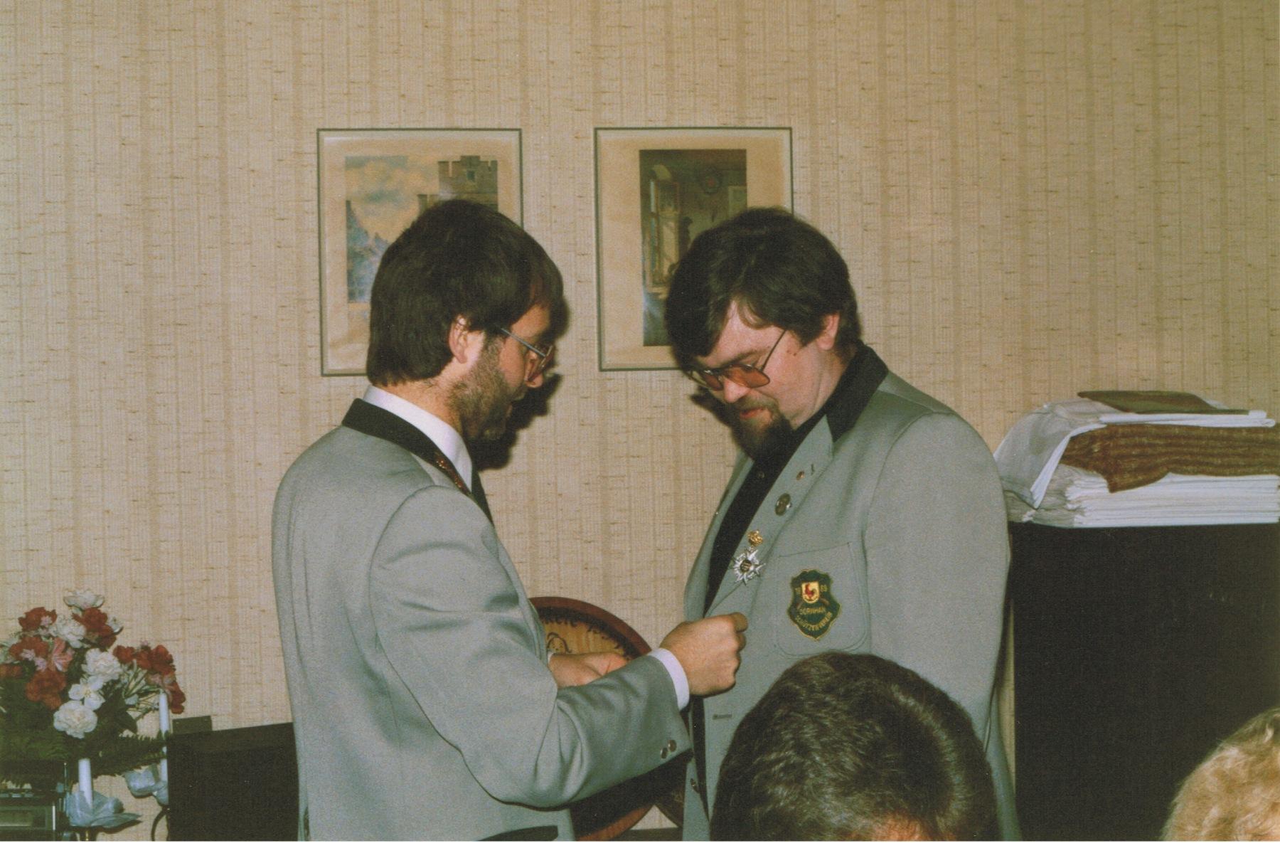 1987 Schützenkönig Bernd Blocher (II.)